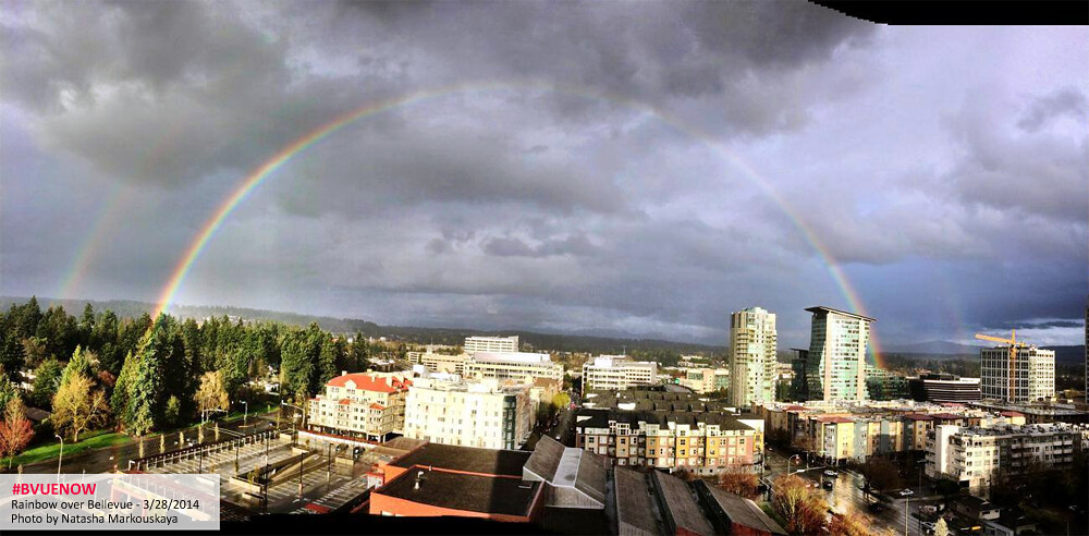 Bellevue rainbow - photo by natasha markouskaya | Bellevue.com