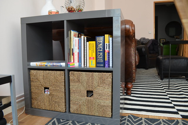 berlin apartment_ikea kallax bookcase side table office storage