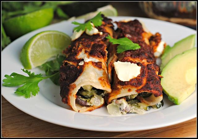 zucchinigoatcheeseenchiladas4