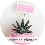 DIY Valentine Planters