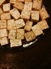 Day 68: wok full of tofu. #100happydays