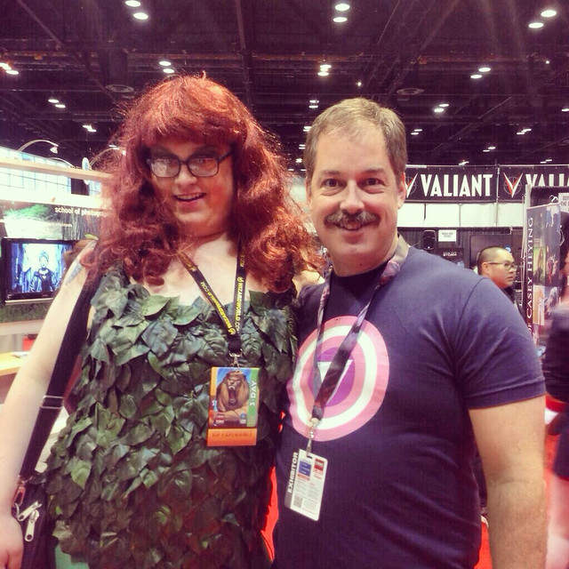 At C2E2 with a gender-bending Poison Ivy