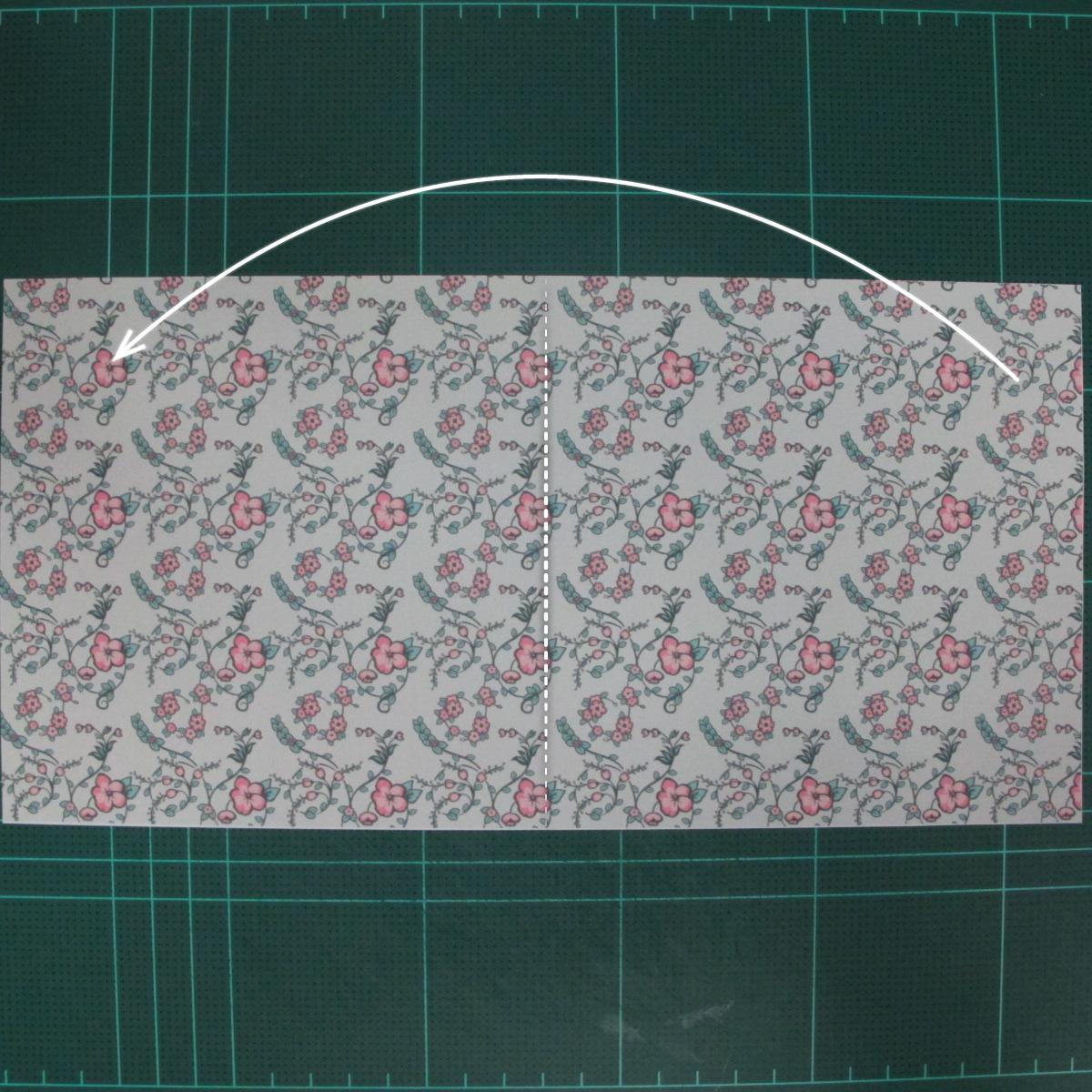 วิธีพับกระดาษรูปหัวใจคู่ (Origami Double Heart)  002
