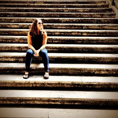 Sittin on the stairs in #rome (found this one in @guentheralex\'s phone from our trip in April) #latergram