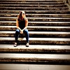 Sittin on the stairs in #rome (found this one in @guentheralex's phone from our trip in April) #latergram