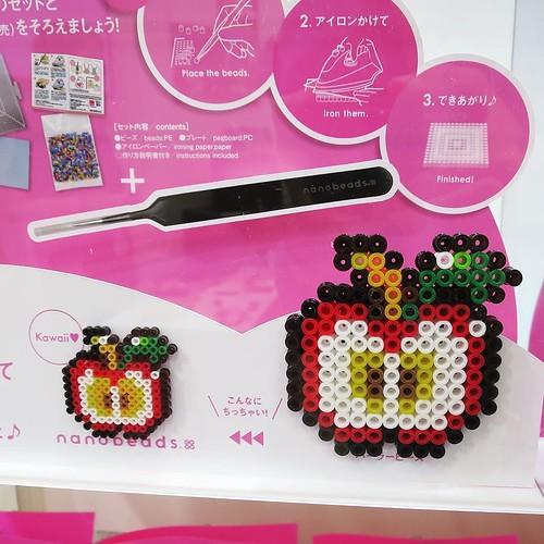 アイロンビーズよりもさらに小さい新製品、ナノビーズも気になります。 #東京おもちゃショー2016 #ナノブロックアンバサダー