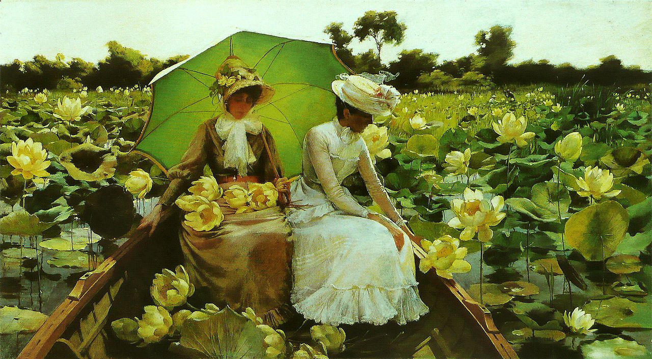 Lotus Lilies by Charles Courtney Curran - 1888