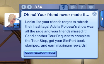Missed Simport Request
