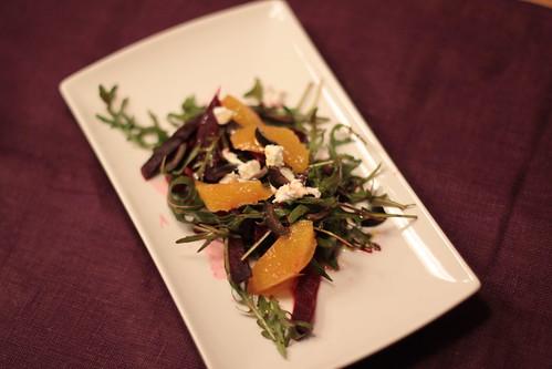 Rote Bete Salat mit Orangen & Oliven