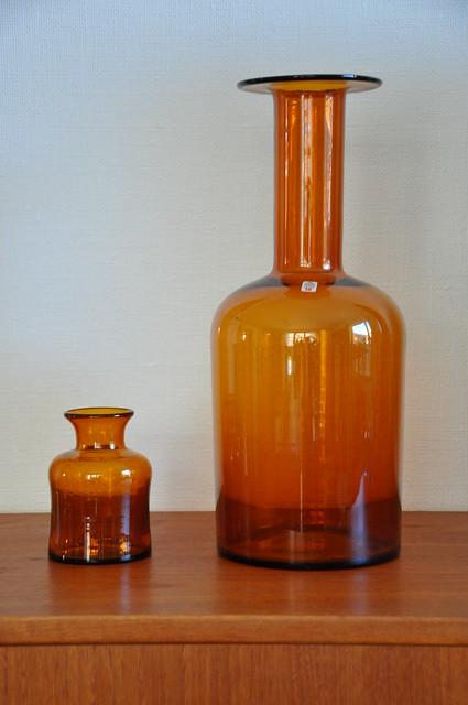 Brunt glas
