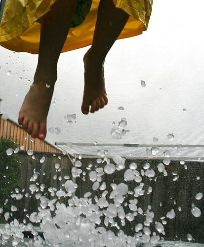 hail bouncing