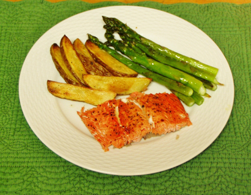 Salmon, Potatoes, Asparagus