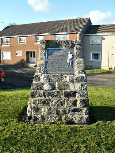 Memorial to Jimmy Shand, East Wemyss, Fife