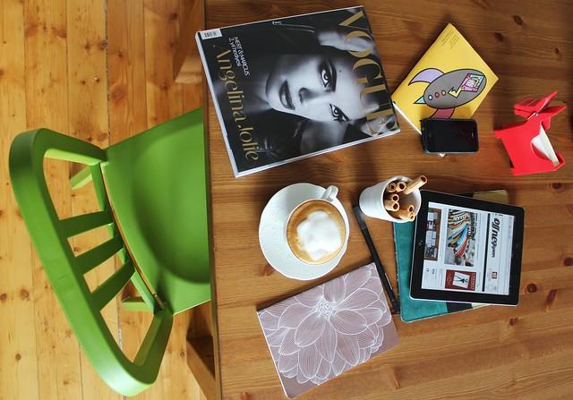 Angelina Jolie, Vogue Türkiye, kahve keyfi