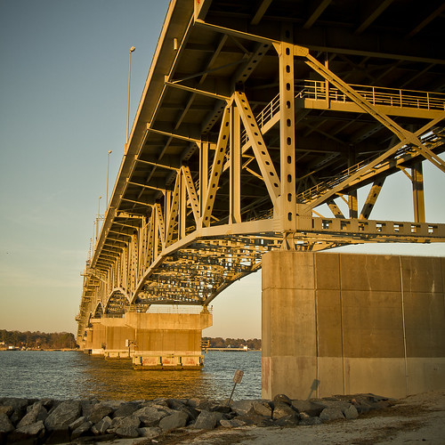 bridge sunset water virginia george memorial yorktown p coleman