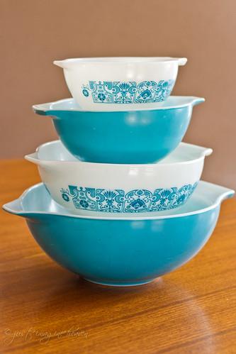Horizon Blue Cinderella Mixing Bowls