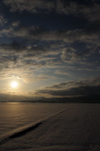 winter snow japan sunrise dawn niigata 2012