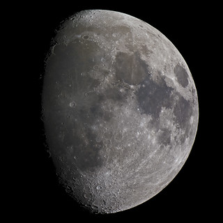 Waxing gibbous Moon 3 March 2012