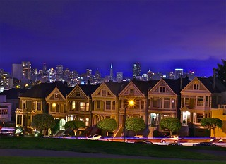 Blue Hour @ painted Ladies