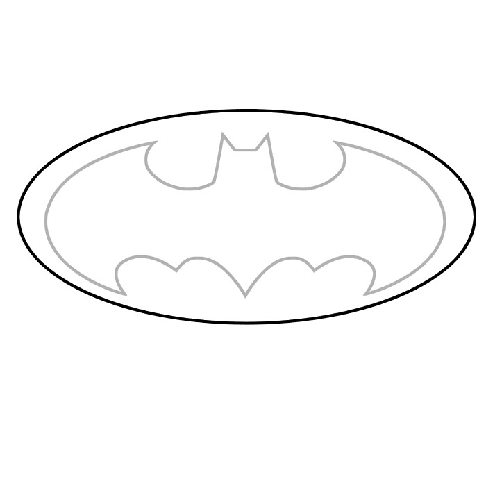 Gallery For gt Batman Symbol Template