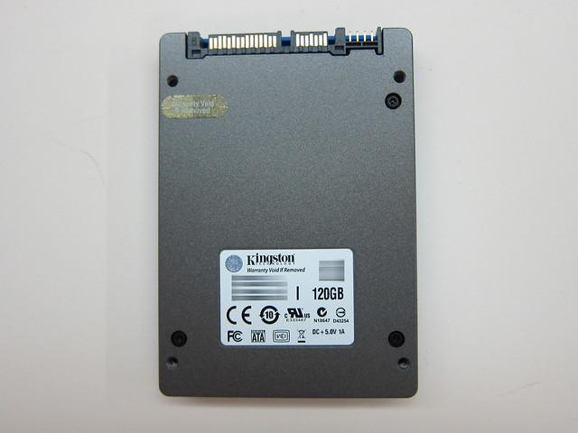 Kingston HyperX SSD - 120GB Back View