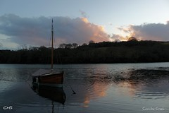 Coombe Creek, River Fal - sunset by Stocker Images