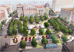 San Jacinto Plaza in the future (via Plan El Paso)