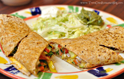 Veggie Quesadilla at La Casita ~ Roseville, MN