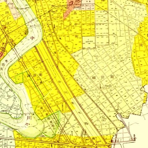 昭和35年都市計画図