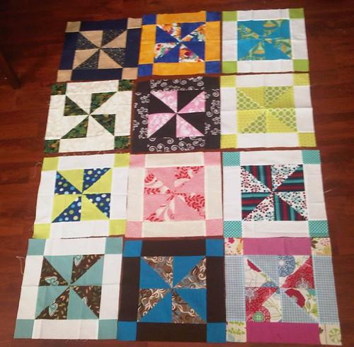 Framed Pinwheel Blocks