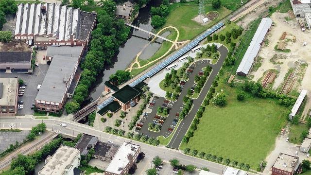 Bird's-Eye View of Rockford Multimodal/Amtrak Station