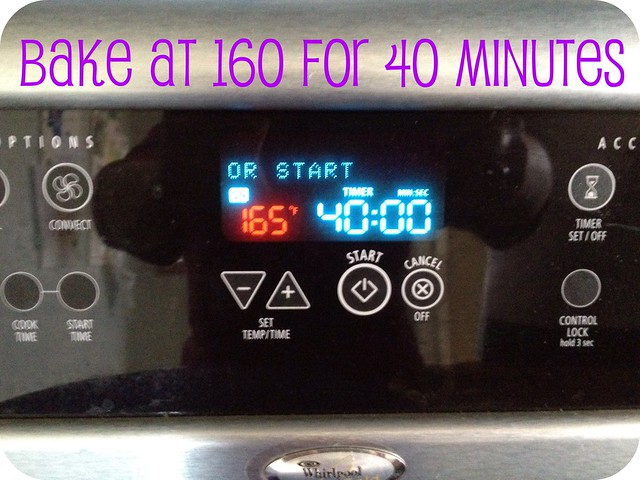 bake at 160 for 40 minutes