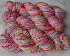 """Eden"" on Aran Twist, and Superwash Worsted  (...a time to dye)"