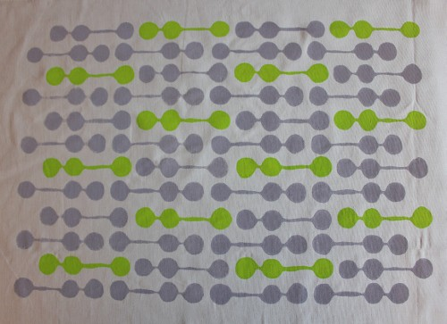 little pods - repeat pattern - lime and grey