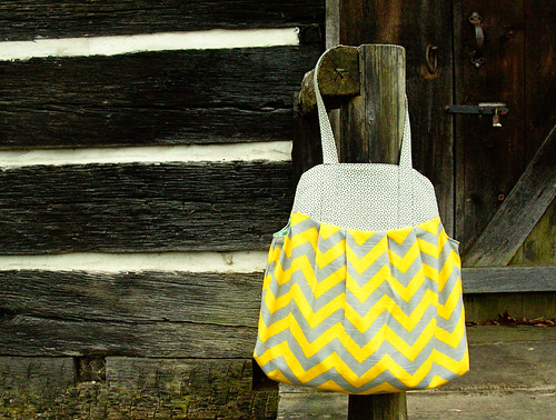 Yellow + Gray showoff bag
