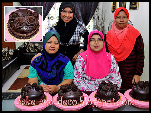 Chocolate Cake with Choc Roses - 18 Feb 2012