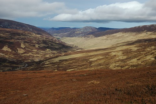 Looking toward Baddoch from Carn a' Gheoidh