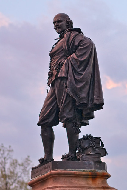 Tower Grove Park, in Saint Louis, Missouri, USA - statue of William Shakespeare