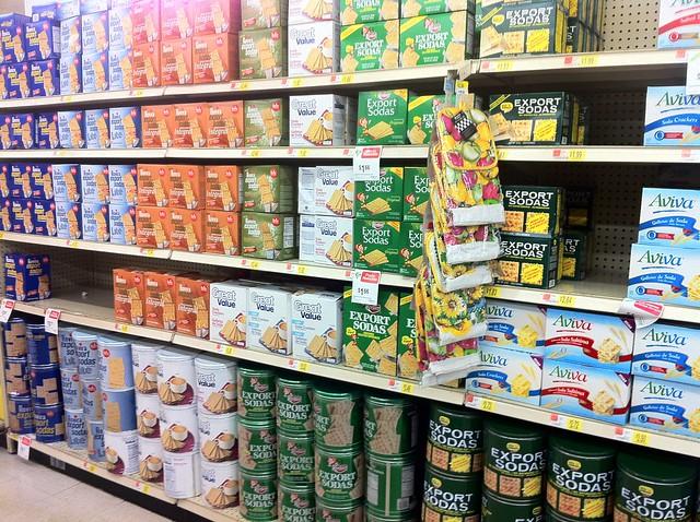 Supermarket Aisle - Export Soda Crackers