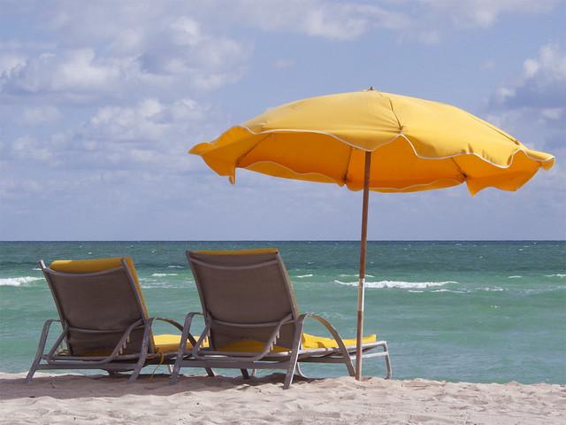 Beach Chair Umbrella Rental
