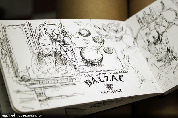Balzac Brasserie - Sketch 1