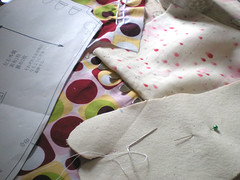 sewing, art, textile, pink,