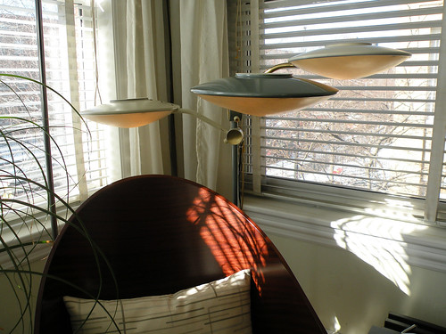 50's 60's Dazor triple floor lamp