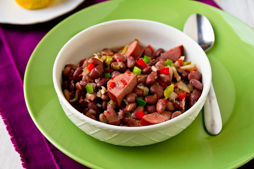 Healthier Red Beans, Sausage, and Rice