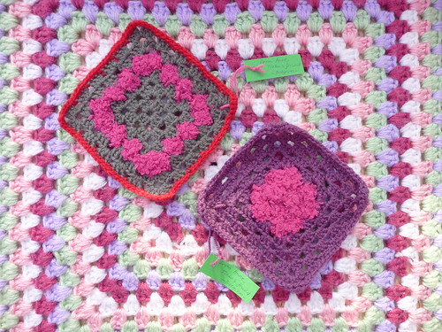 ATheeC has a friend called Anne. One afternoon they crocheted together! Anne has donated these Squares. Wonderful work thank you so much!