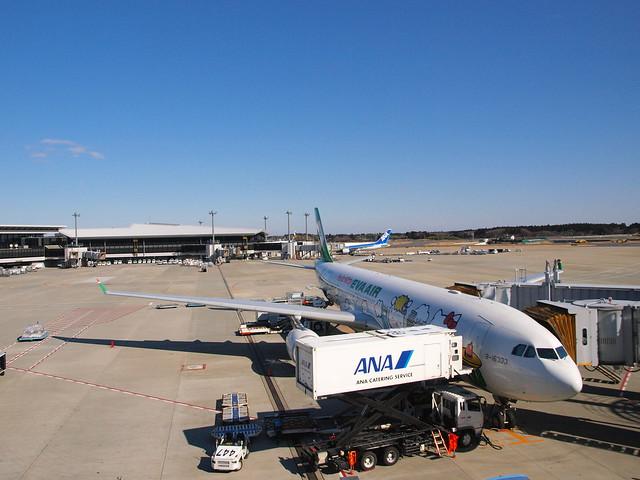 在日本機場拍的HELLO KITTY專機