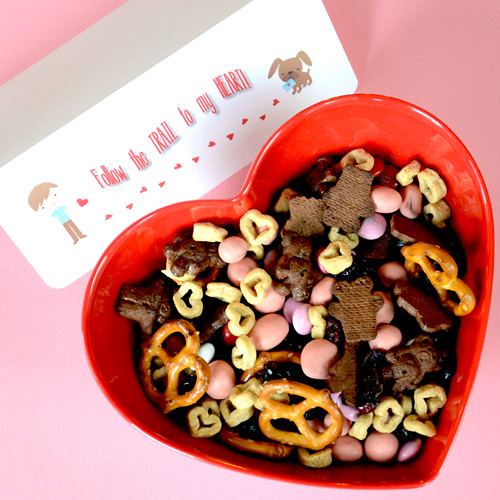 Homemade Trail Mix Valentine Snack Recipe — Dishmaps