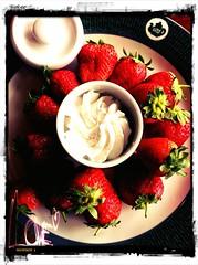 Frische Erdbeeren in der Tea Factory