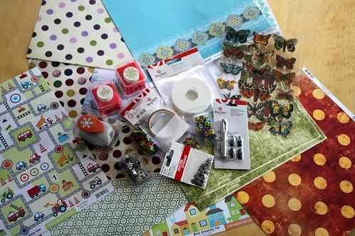 scrapbook materials.