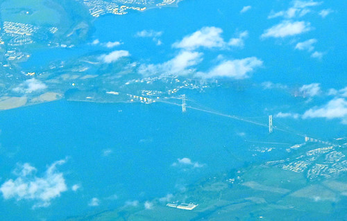 Forth Road Bridge, aerial photo